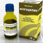 Как правильно полоскать больное горло фурацилином?