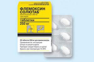 Антибиотик флемоксин солютаб при ангине